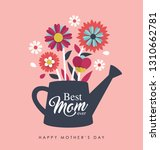 happy mother's day greeting...   Shutterstock .eps vector #1310662781