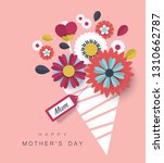 happy mother's day greeting... | Shutterstock .eps vector #1310662787