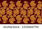 seamless abstract floral border   Shutterstock .eps vector #1310666744