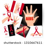 set world aids day. 1st... | Shutterstock .eps vector #1310667611