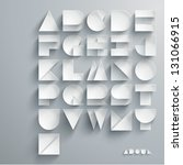 vector paper graphic alphabet... | Shutterstock .eps vector #131066915