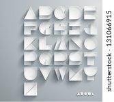 Vector Paper Graphic Alphabet...