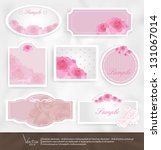 set vintage labels with flowers ... | Shutterstock .eps vector #131067014