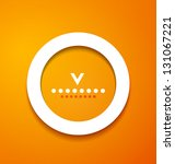 white paper circle on orange... | Shutterstock .eps vector #131067221