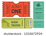 cinema and theater ticket... | Shutterstock .eps vector #1310672924