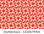 red color geometric seamless... | Shutterstock .eps vector #1310679401