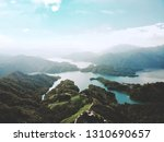 great mountain and lake | Shutterstock . vector #1310690657