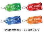 colorful promotional labels set ... | Shutterstock .eps vector #131069579