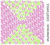 bright trendy colors.doodle... | Shutterstock .eps vector #1310714411