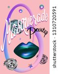 masquerade party invitation... | Shutterstock .eps vector #1310720591