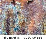 rusty metal texture and... | Shutterstock . vector #1310734661