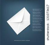 white detailed envelope.vector... | Shutterstock .eps vector #131073617