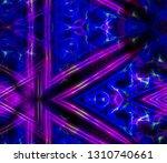 neon rays kaleidoscope color... | Shutterstock . vector #1310740661