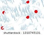 minimalistic modern pattern.... | Shutterstock .eps vector #1310745131