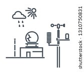 Thin Line Icon Weather Station  ...