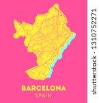vector city map of barcelona... | Shutterstock .eps vector #1310752271