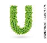 vector illustration of letter u ...   Shutterstock .eps vector #131075675