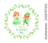 hand drawn patrick s day design ... | Shutterstock . vector #1310757221