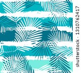 tropical pattern  palm leaves...   Shutterstock .eps vector #1310762417