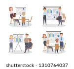 chart board set. people with...   Shutterstock . vector #1310764037