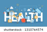 health concept illustration.... | Shutterstock . vector #1310764574