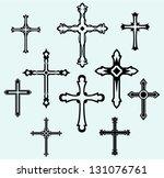 religious cross design... | Shutterstock .eps vector #131076761