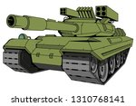 battle tank vector  vector... | Shutterstock .eps vector #1310768141