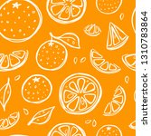 seamless pattern with oranges.... | Shutterstock .eps vector #1310783864
