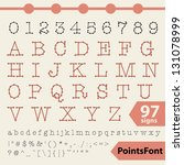 points font. 97 vector letters  ... | Shutterstock .eps vector #131078999