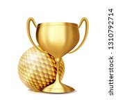 golf award vector. golf ball ... | Shutterstock .eps vector #1310792714