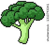 vector pixel art broccoli... | Shutterstock .eps vector #1310793341