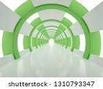bright white circular corridor...   Shutterstock . vector #1310793347