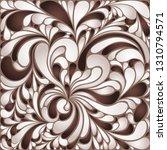 silk texture fluid shapes ... | Shutterstock .eps vector #1310794571