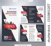 business brochure template in... | Shutterstock .eps vector #1310801207