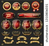 retro golden ribbons labels and ... | Shutterstock .eps vector #1310806031