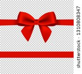 red bow isolated transparent...   Shutterstock . vector #1310808347