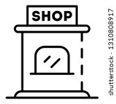 shop kiosk icon. outline shop... | Shutterstock .eps vector #1310808917