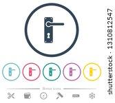 right handed door handle with... | Shutterstock .eps vector #1310812547