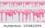 doughnut glaze. sweet cream.... | Shutterstock .eps vector #1310813294