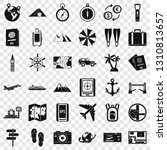 travelling icons set. simple... | Shutterstock .eps vector #1310813657