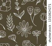 seamless floral pattern. vector ...   Shutterstock .eps vector #1310824271