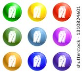coffin icons vector 9 color set ... | Shutterstock .eps vector #1310824601