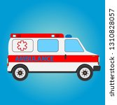 vector illustration ambulance... | Shutterstock .eps vector #1310828057