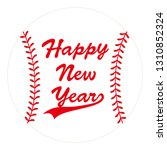baseball ball card with happy...   Shutterstock .eps vector #1310852324