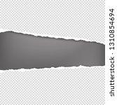 horizontal torn white squared... | Shutterstock .eps vector #1310854694