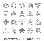 set of planning icons  such as... | Shutterstock .eps vector #1310862191