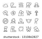 set of air pollution icons ... | Shutterstock .eps vector #1310862827