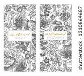 vintage floral cards set. frame ...   Shutterstock .eps vector #1310864687