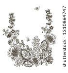 wild flowers blossom branch...   Shutterstock .eps vector #1310864747