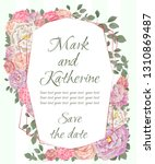 vector template for wedding... | Shutterstock .eps vector #1310869487